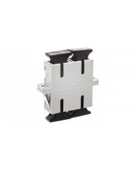 Adapter światłowodowy SC/SC duplex MM OM2 /ceramiczna ferrula/ kremowy DN-96004-1