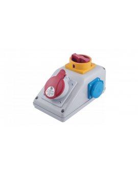 Rozdzielnica stacjonarna R-BOX KOMPAKT 1x32A/5P 2x250V, wył. L/P B.325/2/LP