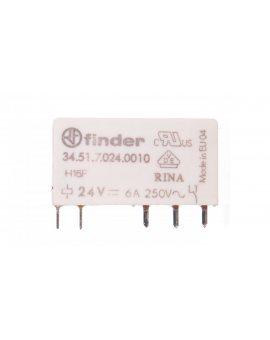 Przekaźnik miniaturowy 1P 6A 24V DC AgNi 34.51.7.024.0010