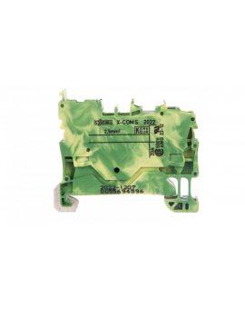 Złączka bazowa X-COMS 1-przewodowa / 1-pinowa żółto-zielona 2022-1207 /100szt./