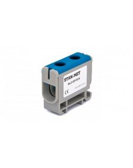 Złączka szynowa gwintowa al/cu 50mm2 niebieska WLZ-35P/50N