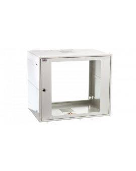 Szafa wisząca SIMPLE 19 12Ux555x400 mm IP 30, ściany boczne pełne, drzwi pełne SZWS-19-9U-40-DS 19-8012SZWS-19-9U-40-DS
