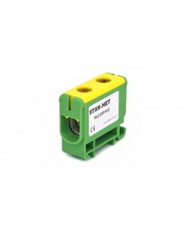 Złączka szynowa gwintowa al/cu 50mm2 zielono-żółta WLZ-35P/50Z