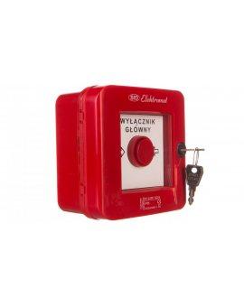 Wyłącznik alarmowy z zamkiem 4Z 12A /WYŁĄCZNK GŁÓWNY/ IP55 WGZ-5s 921494