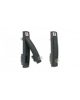 Klamka wychylna RS600 do szaf obudów sterowniczych SZE2, bez wkładki, czarna, M1H-01-0024, /1 szt./