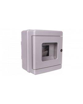 Przycisk ppoż. - obudowa 1x4 150x170x100 szary IP65 EC64104