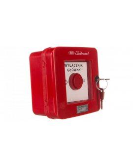 Wyłącznik alarmowy z zamkiem 4R /WYŁĄCZNK GŁÓWNY/ IP55 WGZ-6s 921495