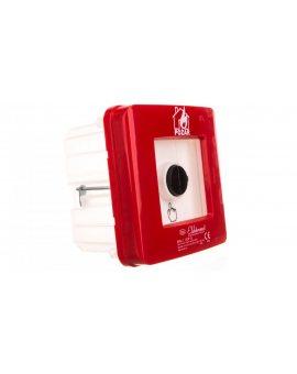 Ręczny ostrzegacz pożarowy 1Z 1R 12A IP65 WPp-1 ROP B 921556