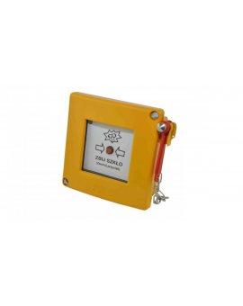Przycisk blokowany z młoteczkiem i sygnalizacją 230V AC/DC 2R żółty W0-PB-M2 2Y G