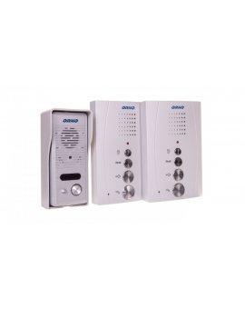 Zestaw domofonowy jednorodzinny z interkomem bezsłuchawkowy szary ELUVIO INTERCOM OR-DOM-RE-920/G