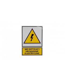 Tabliczka /znak ostrzegawczy/ TZO 74X105S /N.D.U.E./ E04TZ-01011120100 /10szt./