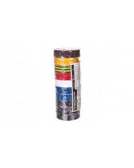 Taśma izolacyjna 15mm x 10m PVC multikolor F615992 /10szt./