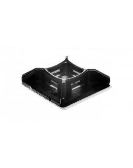 Podstawka montażowa do opasek zaciskowych czarna PMS-25-25-UV-100 /100szt./ 25.252