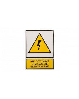 Tabliczka /znak ostrzegawczy/ TZO 105X148S /N.D.U.E./ E04TZ-01011130100 /10szt./