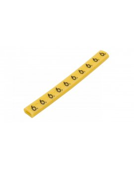 Oznacznik przewodów OZ-0/6 żółty E04ZP-01020100700 (100szt.)