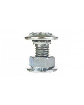 Śruba z łbem grzybkowym + nakretka kolnierzowa zabkowana (komplet) typ SGK M10X20 651341 /100szt./
