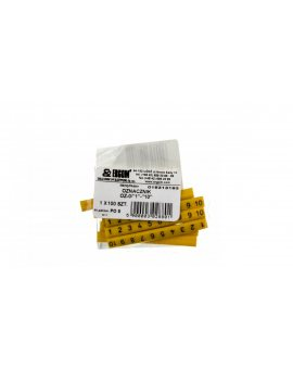 Oznacznik przewodów OZ-0/1-10 żółty E04ZP-01020101100 /100szt./
