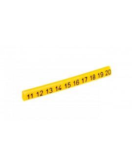 Oznacznik przewodów OZ-0/11-20 żółty E04ZP-01020101200 /100szt./