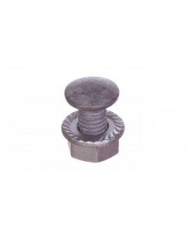 Śruba z łbem grzybkowym+nakrętka kolnierzowa ząbkowana (komplet) SGKF M8x14 /100szt./