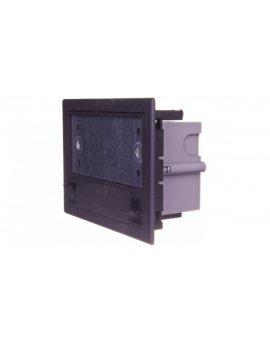 Simon Connect Puszka SF podłogowa pojedyncza 2x K45 gł. 70mm + SM102/9 szary grafit SF170/14