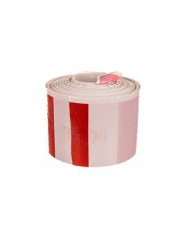 Folia ostrzegawcza biało-czerwona /Niebezpieczne miejsca/ 68127 /100m/