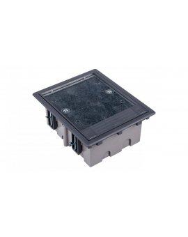 Simon Connect Puszka SF podłogowa potrójna 6xK45 + SM302/9 szara SF310/1