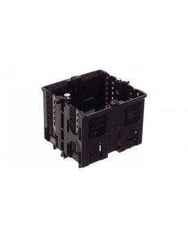 Puszka instalacyjna pojedyncza do montażu w profilach typu C pełna czarna GLS5500