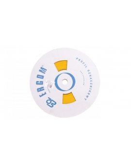 Profil PCV owalny do nadruku DPF 6, 5/20 żółty E04ZP-04020400710