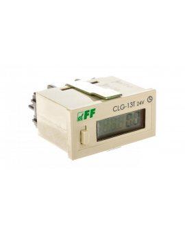 Licznik czasu pracy 4-30V DC 6 znaków cyfrowy tablicowy 48x24mm CLG-13T-24V
