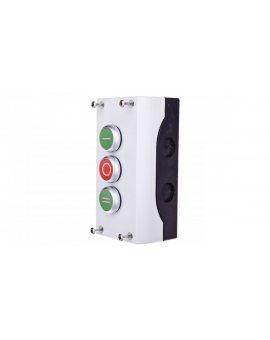 Kaseta sterownicza 3-otworowa z przyciskami zielony/czerwony/zielony IP65 M22-I3-M1 216532
