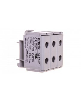 Zacisk trojtorowy KE-61.03 szary (2, 5-50mm)