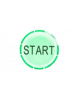 Soczewka przycisku 22mm płaska zielona START M22-XDL-G-GB1 218328