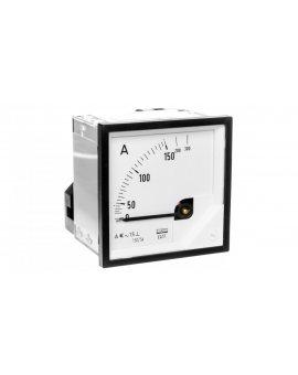 Amperomierz analogowy tablicowy 150/300A do przekładnika 150/5A 72x72mm IP50 C3 K=90 st. EA17N F41700000000