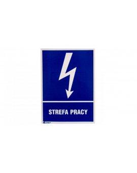 Tabliczka ostrzegawcza /Strefa pracy 148x210/ 24EIA/Q4/F
