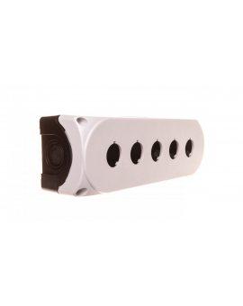 Obudowa kasety 5-otworowa 22mm biała IP67 LPZP5A8