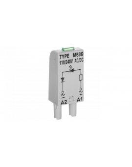 Moduł sygnalizacyjny L (dioda: LED zielony) 110-230 V AC/DC M63G szary 854854