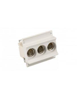 Gniazdo bezpiecznikowe na szynę 3P 63A D02 400V DIN D02N/3-K E18 002222021