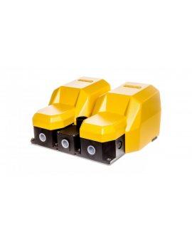 Wyłącznik nożny podwójny z osłoną żółty metal 2Z 2R 2Z 2R T0-PDKA22GG10