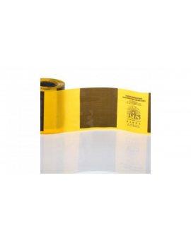 Folie odgradzające żółto czarne 10cm TOO-ŻC/10 /100m/