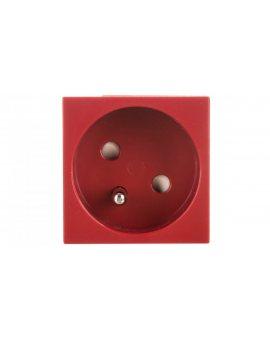 tehalit.GB-EG Gniazdo z/u 33st. pojedyncze 45x45mm bezhalogenowe czerwone EER1333020
