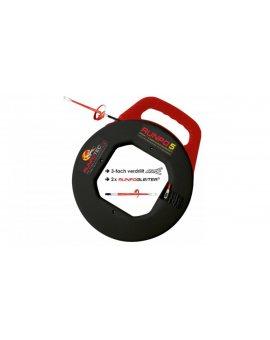 Pilot do przeciągania kabla spirala RUNPO z kasetą 10013 /20m/