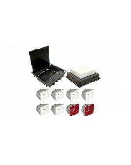 Puszka podłogowa FLOOR BOX do podłóg wylewanych 6x gniazdo 230V z/u + 2x gniazdo DATA z/u LUX07111