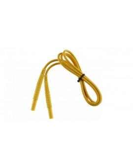 Przewód pomiarowy 1, 2m żółty /wtyki bananowe/ WAPRZ1X2YEBB