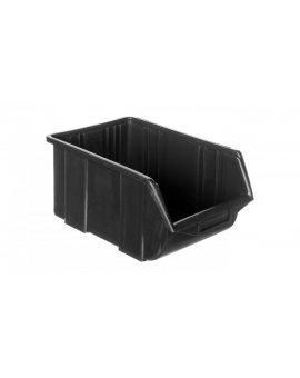 Pojemnik magazynowy plastikowy 36x22, 5x16, 5cm czarny 79R184