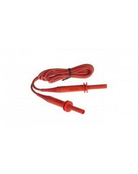 Przewód pomiarowy 1, 8m czerwony 5kV /wtyki bananowe/ WAPRZ1X8REBB