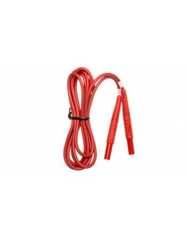 Przewód pomiarowy 2, 2m czerwony /wtyki bananowe/ WAPRZ2X2REBB