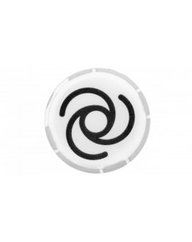 Soczewka przycisku 22mm płaska biała z symbolem AUTOMATYCZNY PRZEBIEG M22-XDL-W-X10 218308