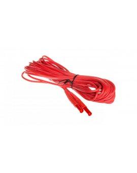 Przewód pomiarowy 10m czerwony /wtyki bananowe/ WAPRZ010REBB