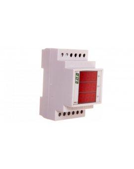 Woltomierz 3-fazowy cyfrowy modułowy 100-300V AC dokładność 0, 5% DMV-3RMS