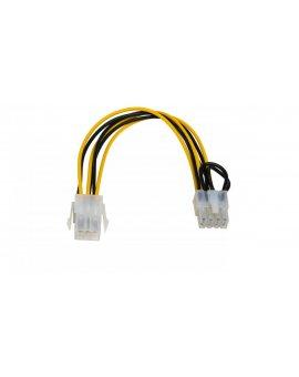 Adapter z kablem AK-CA-07 PCI-E 6 pin (m) / PCI-E 8 pin (f) 20cm AK-CA-07